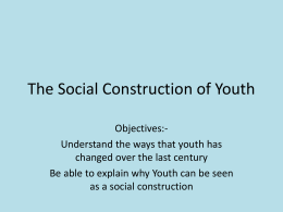 Youth Culture and Functionalism