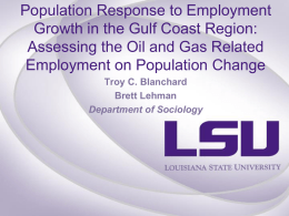 Population Response to Employment Growth in the Gulf Coast