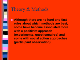 Theory & Methods