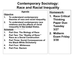 a social construction essay The social construction of race race is defined as a category or group of people having hereditary traits that set them apart while race revolves around the idea of biological traits, ethnicity is based on a shared cultural heritage.
