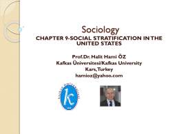 Social Stratification and Mobility in the United States