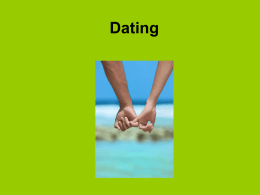 Dating and Marriage - Classroom Websites