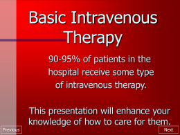Basic Intravenous Therapy
