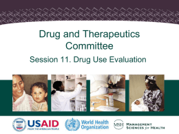 Drug and Therapeutics Committees