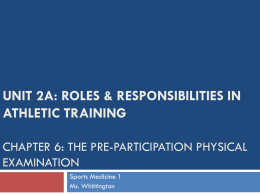 Chapter 6: The Pre-Participation Physical Examination