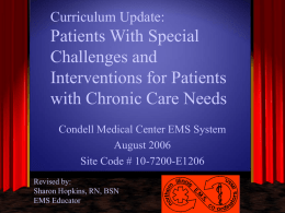 Patients With Special Challenges and Interventions for Patients with