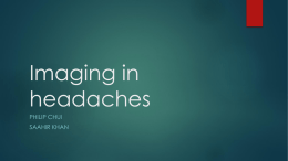 Imaging in headaches