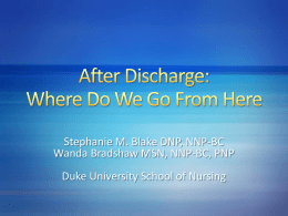 After Discharge Where Do We Go From Herex
