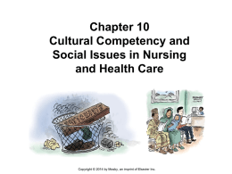 Chapter 10 Cultural Competency and Social Issues in