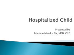 PowerPoint Hospitalized Child
