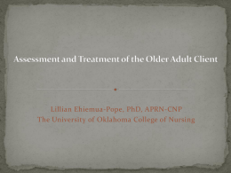 Assessment and Treatment of the Older Adult Client