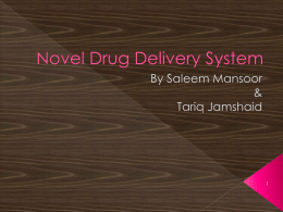 Novel Drug Delivery System