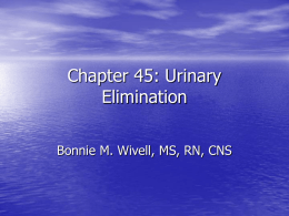 URINARY ELIMINATION OXYGENATION