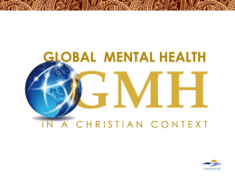 Seven principles of Mental Health in a Christian Context