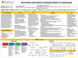 Initiating Discharge Planning Prior to Admission