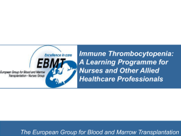 ITP Learning Programme - European Group for Blood and Marrow