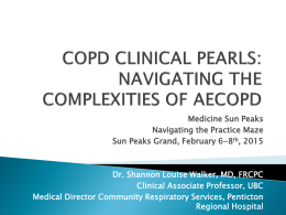copd clinical pearls - Divisions of Family Practice