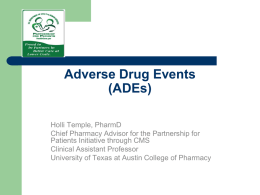 Adverse Drug Events - Texas Center for Quality & Patient Safety