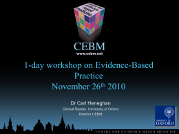 diy-introduction - Centre for Evidence