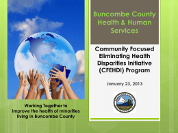Wake County - North Carolina Public Health Association