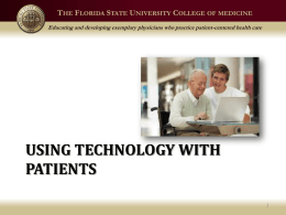 Using Technology With Patients - Florida State University College of