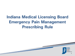 The Prescribing Rule - Indiana Osteopathic Association