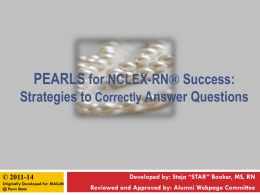 PEARLS for NCLEX Success ppt