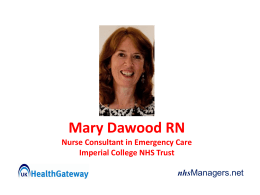 Mary Dawood RN Nurse Consultant in Emergency