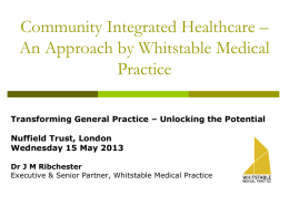 John Ribchester: Community integrated health care