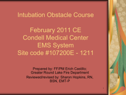 Intubation Obstacle Course