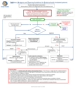 Sedation, Analgesia and Tapering Guidelines for Endotracheally