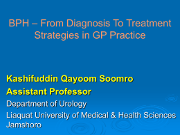 BPH – From Diagnosis To Treatment Strategies in GP Practice