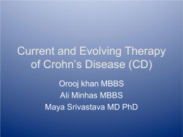 Crohn`s Disease (CD)and current Therapies