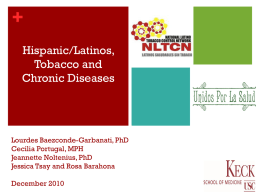 Hispanic/Latinos, Tobacco and Chronic Diseases