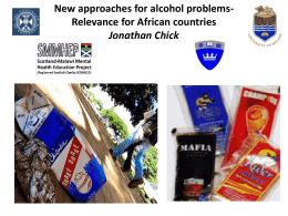 Advances in the treatment of alcohol problems: relevance for Africa