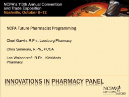 Innovations in Compounding Panel