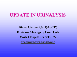 UPDATES IN URINALYSIS - American Medical Technologists