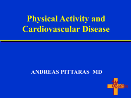 Physical Activity and the Incidence of Coronary Heart Disease