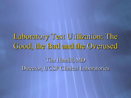 Laboratory Test Utilization