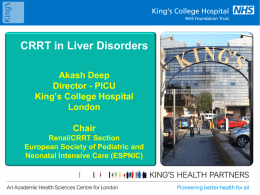 CRRT in Liver Disease - Pediatric Continuous Renal Replacement