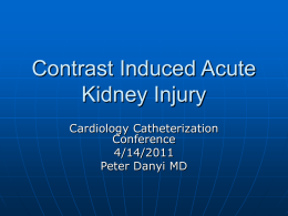 Contrast Induced Acute Kidney Injury
