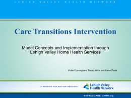 Care Transitions Intervention - Pennsylvania Homecare Association