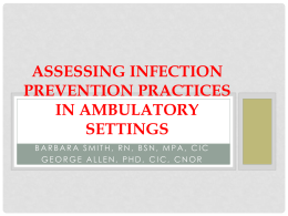 Infection Prevention In Ambulatory Care