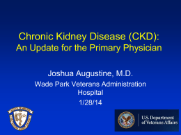 Chronic Kidney Disease by Dr. Augustine