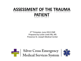Trauma Patient Assessment PowerPoint ALS-ILS-BLS
