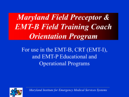 Maryland Field Preceptor Orientation Program