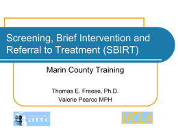 the screening tools - UCLA Integrated Substance Abuse Programs