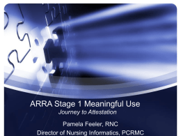 ARRA Stage 1 Meaningful Use