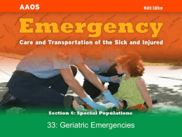 Chapter 33: Geriatric Emergencies