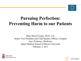 Pursuing Perfection - Alpert Medical School